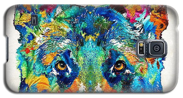 Colorful German Shepherd Dog Art By Sharon Cummings Galaxy S5 Case