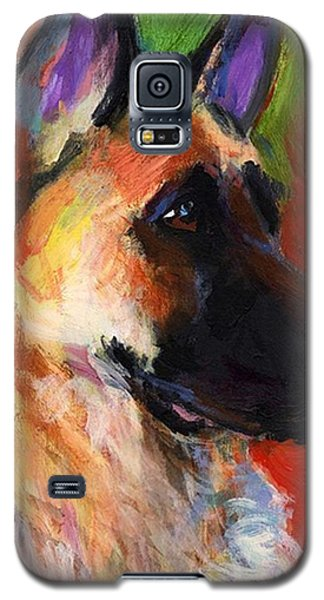 Colorful German Shepherd Painting By Galaxy S5 Case