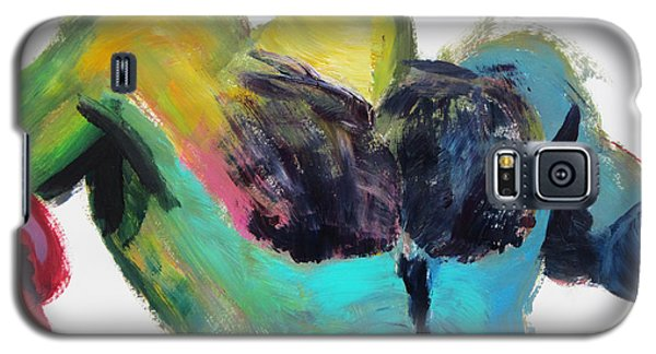 Galaxy S5 Case featuring the painting Colorful Hairy Boxer by Shungaboy X