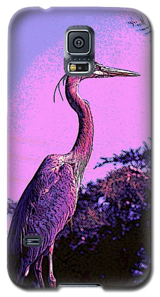 Colorful Heron Galaxy S5 Case