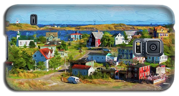 Colorful Homes In Trinity, Newfoundland - Painterly Galaxy S5 Case