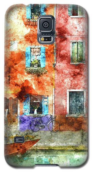 Colorful Houses In Burano Island, Venice Galaxy S5 Case
