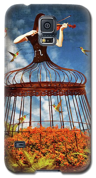 Colorful Hummingbird Song Galaxy S5 Case by Mihaela Pater