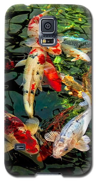 Colorful  Japanese Koi Fish Galaxy S5 Case