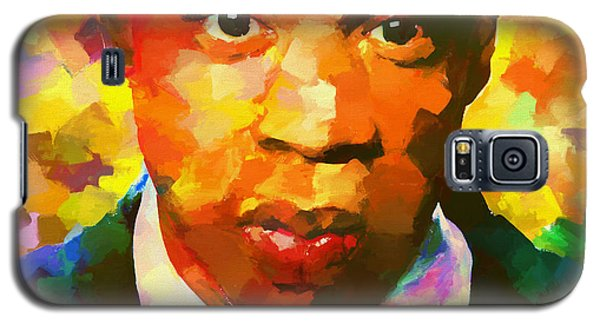 Colorful Jay Z Palette Knife Galaxy S5 Case by Dan Sproul