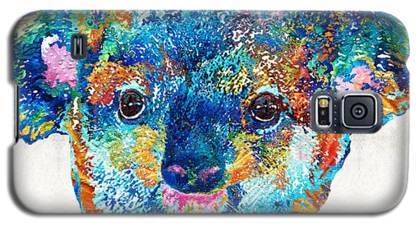 Colorful Koala Bear Art By Sharon Cummings Galaxy S5 Case by Sharon Cummings