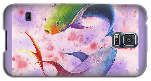 Galaxy S5 Case featuring the painting Colorful Koi by Darice Machel McGuire