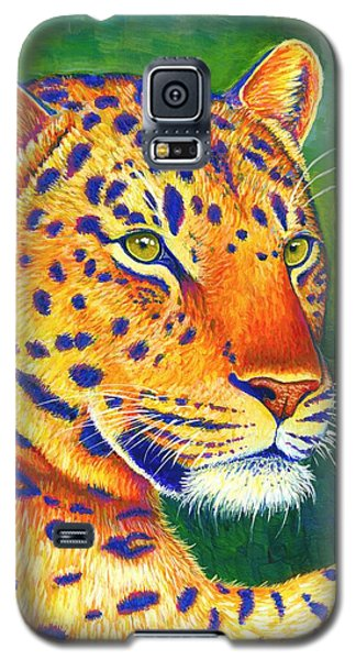 Colorful Leopard Portrait Galaxy S5 Case