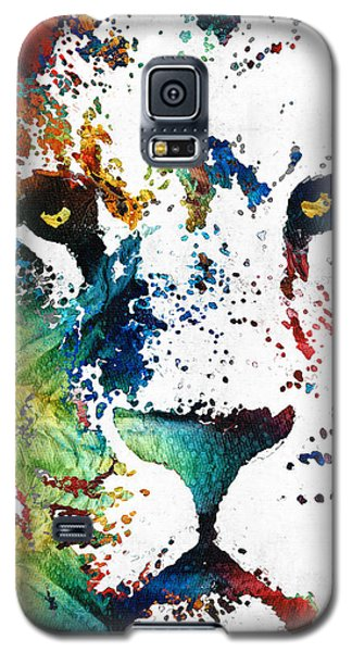 Colorful Lion Art By Sharon Cummings Galaxy S5 Case by Sharon Cummings