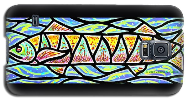 Galaxy S5 Case featuring the painting Colorful Longfish by Jim Harris