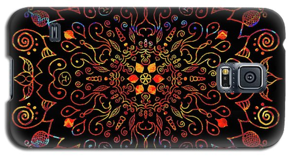 Colorful Mandala With Black Galaxy S5 Case