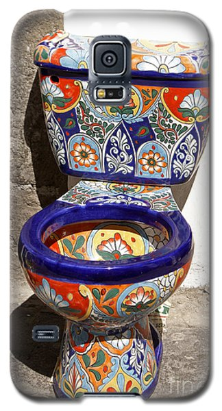Colorful Mexican Toilet Puebla Mexico Galaxy S5 Case