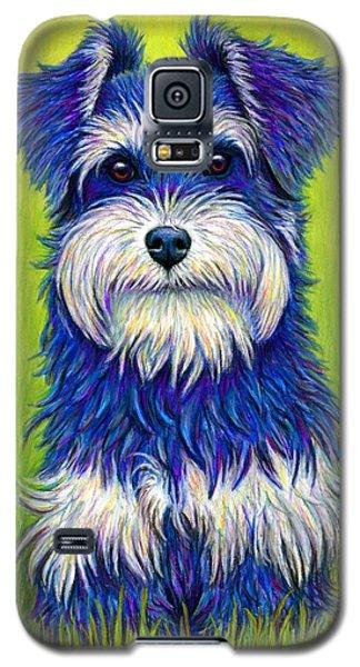 Colorful Miniature Schnauzer Dog Galaxy S5 Case