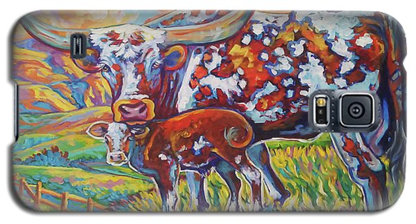 Galaxy S5 Case featuring the painting Colorful Momma by Jenn Cunningham