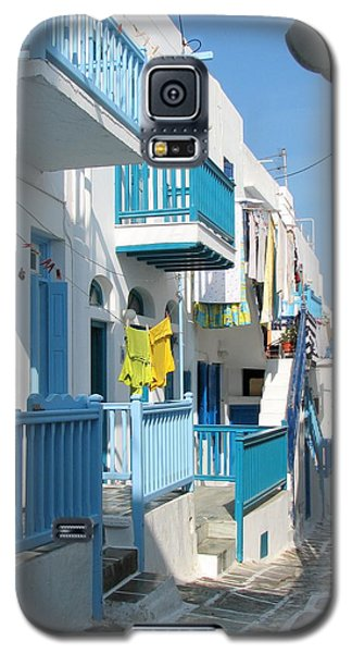 Galaxy S5 Case featuring the photograph Colorful Mykonos by Carla Parris