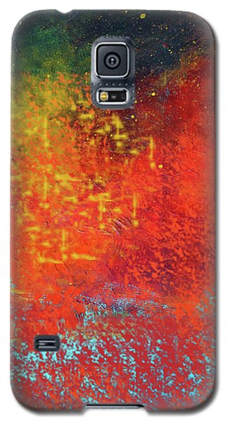 Galaxy S5 Case featuring the painting Colorful Night by Nancy Merkle