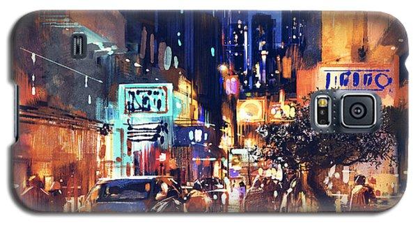 Colorful Night Street Galaxy S5 Case