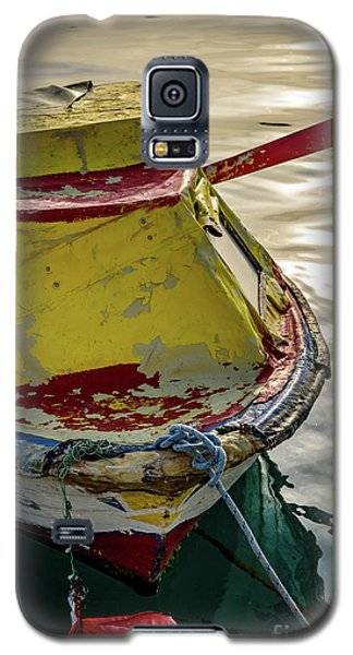 Colorful Old Red And Yellow Boat During Golden Hour In Croatia Galaxy S5 Case