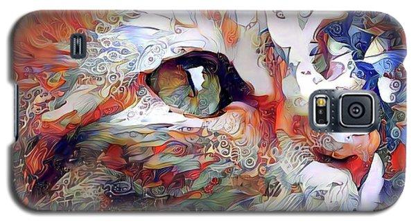 Colorful Orange Cat Art Galaxy S5 Case