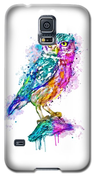 Colorful Owl Galaxy S5 Case by Marian Voicu