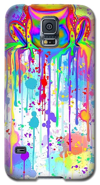 Galaxy S5 Case featuring the painting Colorful Painted Frog  by Nick Gustafson