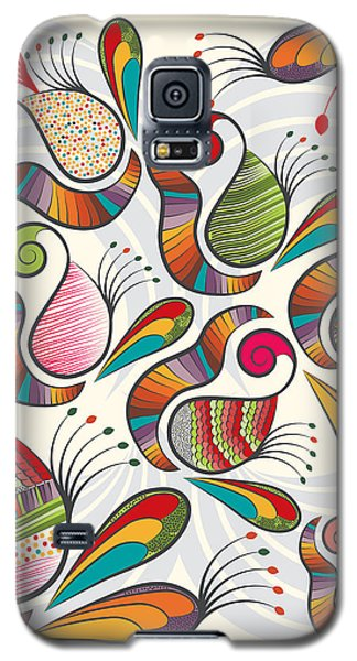 Colorful Paisley Pattern Galaxy S5 Case by Famenxt DB