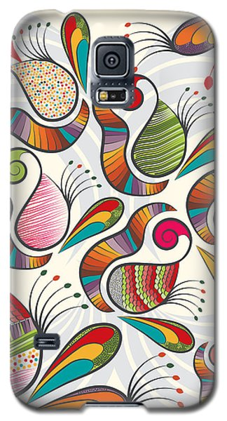Colorful Paisley Pattern Galaxy S5 Case by Famenxt DB