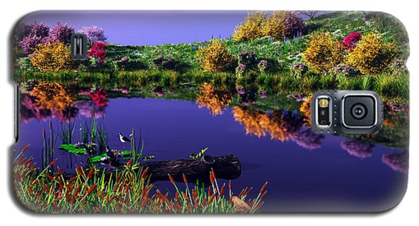 Colorful Pond Galaxy S5 Case