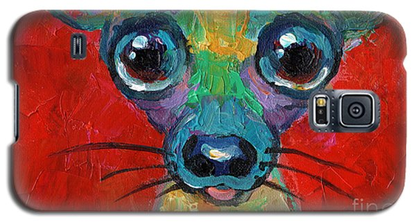Colorful Pop Art Chihuahua Painting Galaxy S5 Case