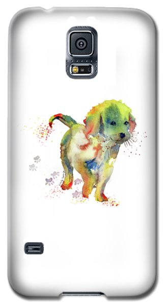 Colorful Puppy Watercolor - Little Friend Galaxy S5 Case by Melly Terpening