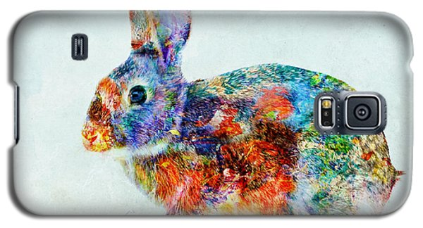 Colorful Rabbit Art Galaxy S5 Case by Olga Hamilton