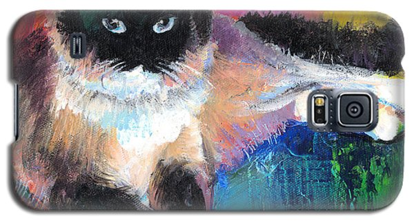 Colorful Ragdoll Cat Painting Galaxy S5 Case