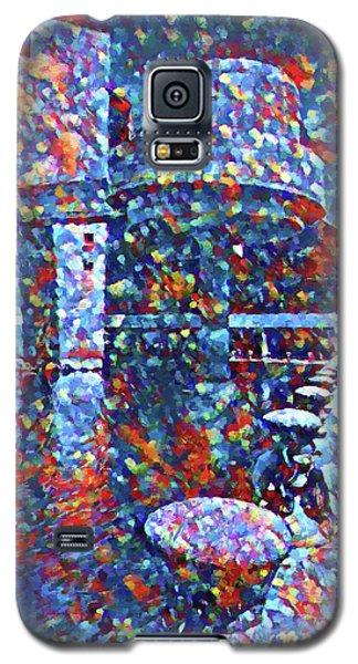 Galaxy S5 Case featuring the painting Colorful Rock And Roll Hall Of Fame Museum by Dan Sproul