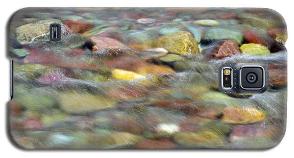 Colorful Rocks In Two Medicine River In Glacier National Park Galaxy S5 Case