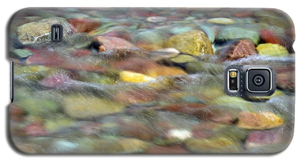 Colorful Rocks In Two Medicine River In Glacier National Park Galaxy S5 Case