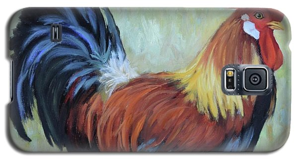 Colorful Rooster Print Galaxy S5 Case by Cheri Wollenberg