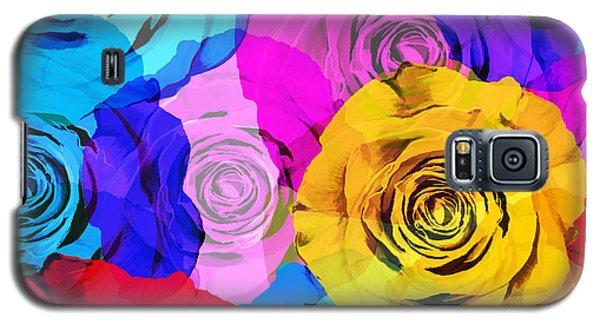 Colorful Roses Design Galaxy S5 Case by Setsiri Silapasuwanchai
