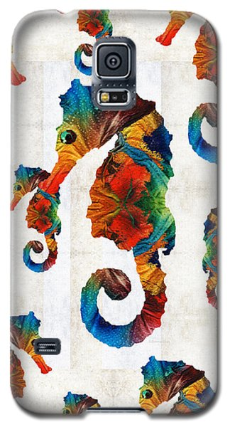 Colorful Seahorse Collage Art By Sharon Cummings Galaxy S5 Case