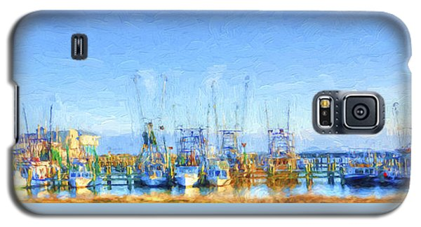 Colorful Shrimp Boat Harbor Pass Christian Ms Galaxy S5 Case