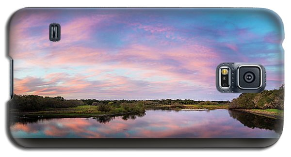 Alligator Galaxy S5 Case - Colorful Sky by Marvin Spates