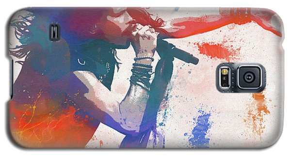 Steven Tyler Galaxy S5 Case - Colorful Steven Tyler Paint Splatter by Dan Sproul