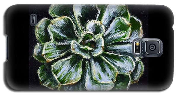 Galaxy S5 Case featuring the painting Colorful Succulent by Sandra Estes