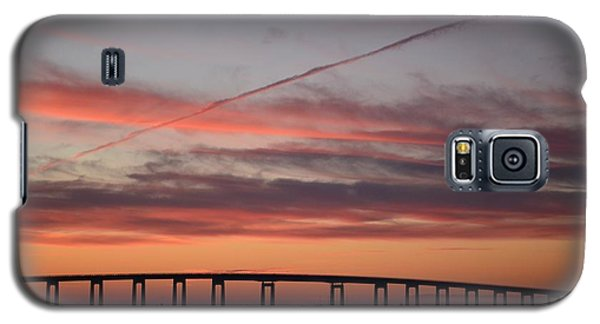 Colorful Sunrise Over Navarre Beach Bridge Galaxy S5 Case by Jeff at JSJ Photography