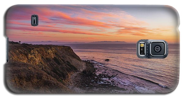 Colorful Sunset At Golden Cove Galaxy S5 Case