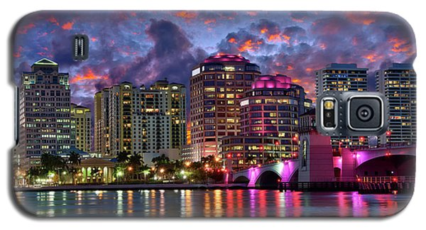Colorful Sunset Over Downtown West Palm Beach Florida Galaxy S5 Case