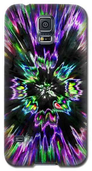 Colorful Tie Dye Abstract Galaxy S5 Case by Phil Perkins