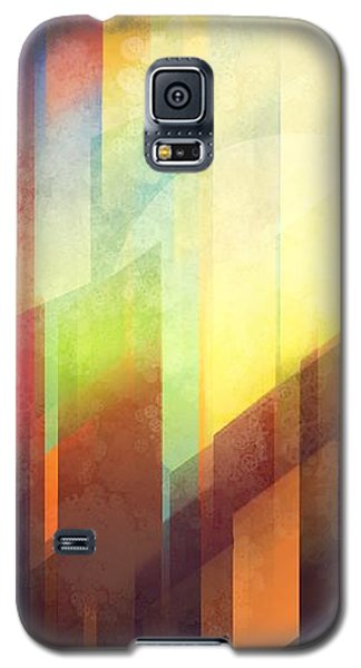 City Sunset Galaxy S5 Case - Colorful Urban Design by Thubakabra