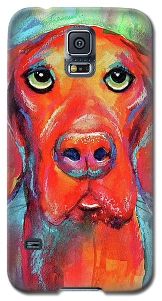 Galaxy S5 Case - Colorful Vista Dog Watercolor And Mixed by Svetlana Novikova