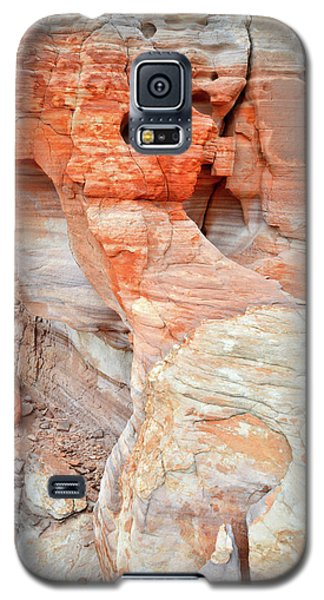 Galaxy S5 Case featuring the photograph Colorful Wall Of Sandstone In Valley Of Fire by Ray Mathis