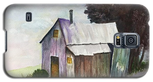 Galaxy S5 Case featuring the painting Colorful Weathered Barn by Lucia Grilletto